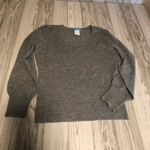 U-Knit pure cashmere grey sweater large